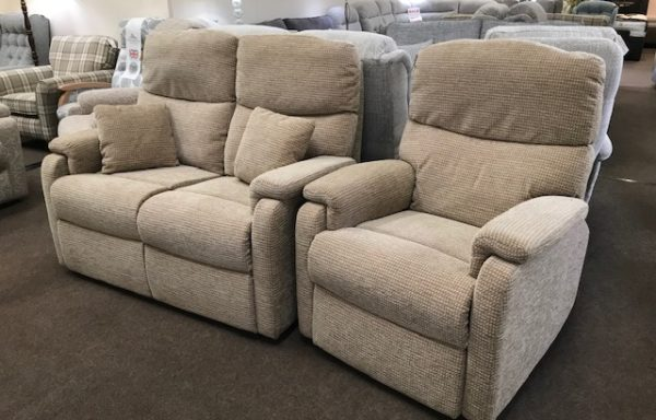 Ex-Display – Celebrity Hertford powered recliner chair and two seat sofa