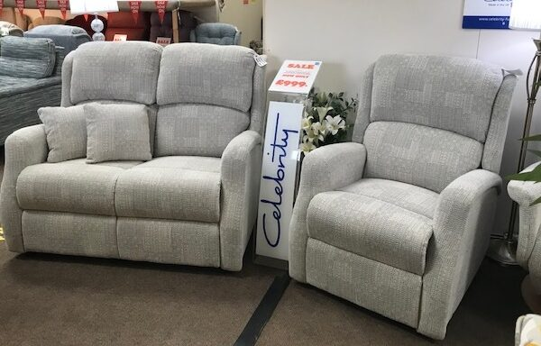 Ex-Display – Celebrity Langham Two Seat Sofa & Swivel Reclining Chair